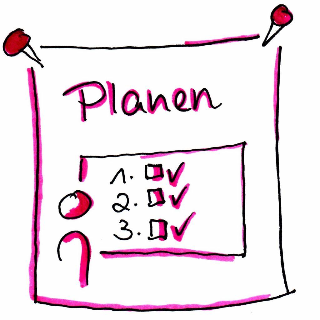 bildchen mit text: planen