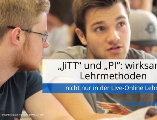 """""""JiTT"""" und """"PI"""": wirksame Lehrmethoden – nicht nur in der Live-Online Lehre"""